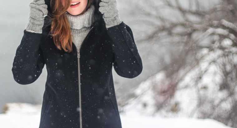 woman snowflakes winter clothing